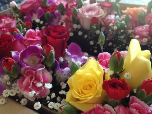 料理旅館はしもとの客室の花